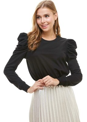 TCEC Knit Puff Sleeve Top