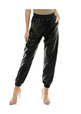 TCEC Faux Leather Joggers