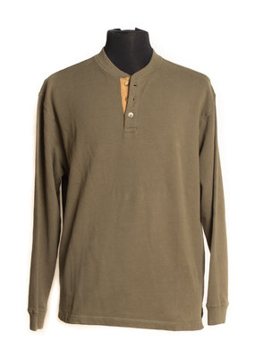 Wooly Dry Goods 3 Button Henley