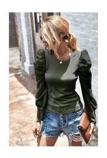 Miss Sparkling Miss Sparkling Bubble Sleeve Sweatshirt