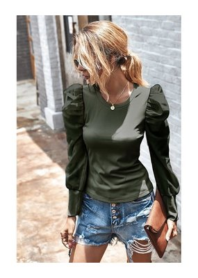 Miss Sparkling Bubble Sleeve Sweatshirt