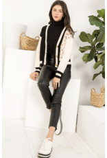 THML THML Leopard Knit Cardigan