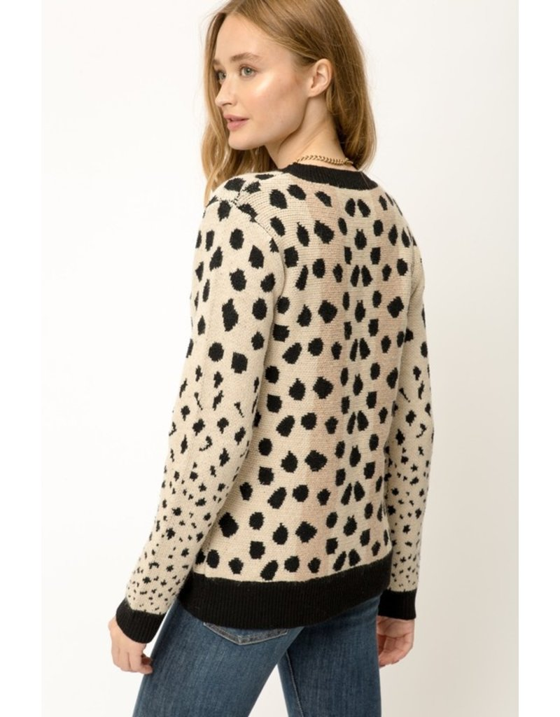 Mystree Mystree Animal Print Soft Sweater