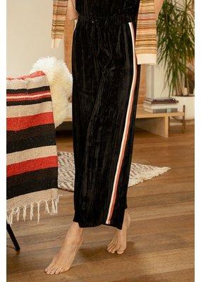 Mystree Velvet Striped Trim Pants