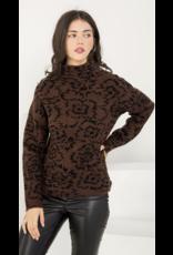 THML THML Drop Shoulder Floral Sweater