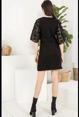 THML THML Bell Sleeve Rib Knit Dress
