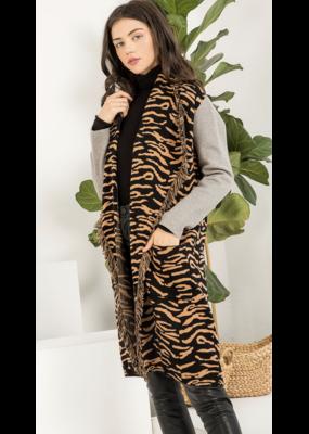 THML Leopard Knit Cardigan