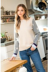 THML THML Star Sleeve Sweater