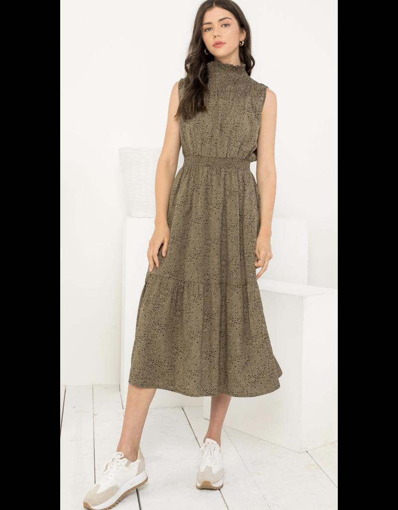 THML THML Smocked Sleeveless Dress