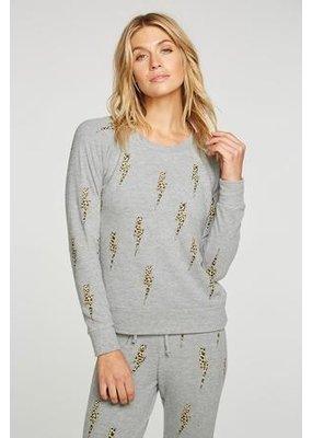 Chaser Bliss Knit Long Sleeve Raglan Pullover