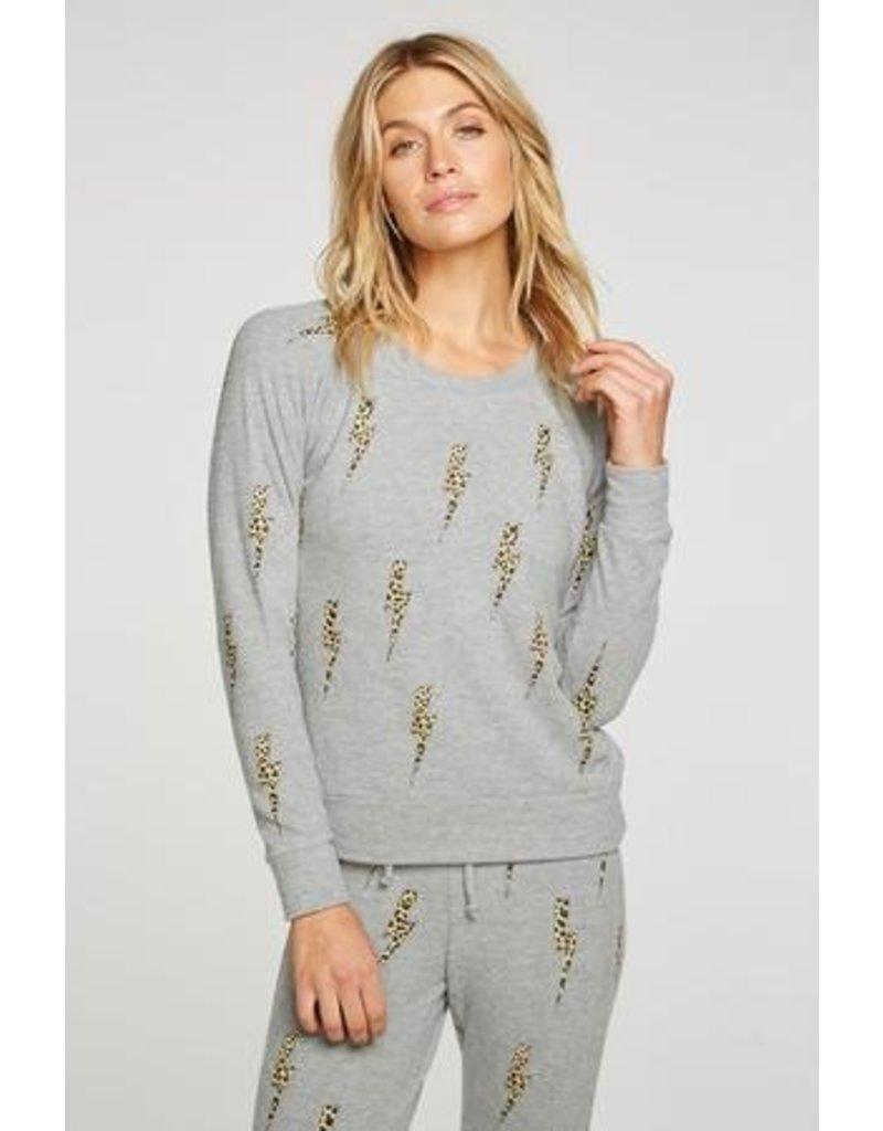Chaser Chaser Bliss Knit Long Sleeve Raglan Pullover