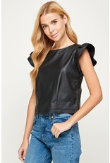 Westmoon Westmoon Faux Leather Top