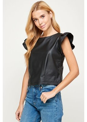 Westmoon Faux Leather Top