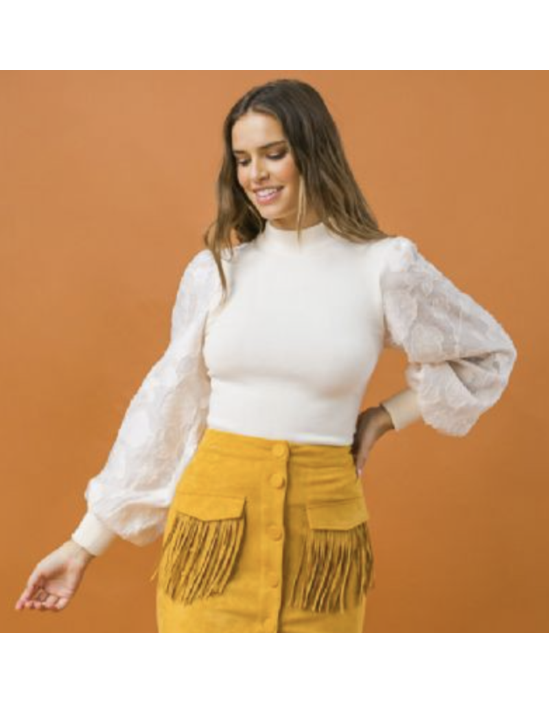 Flying Tomato Flying Tomato Calin Sleeve Statement Top
