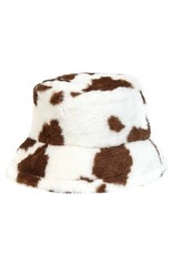 FAME ACCESSORIES Fame Cow Print Bucket Hat