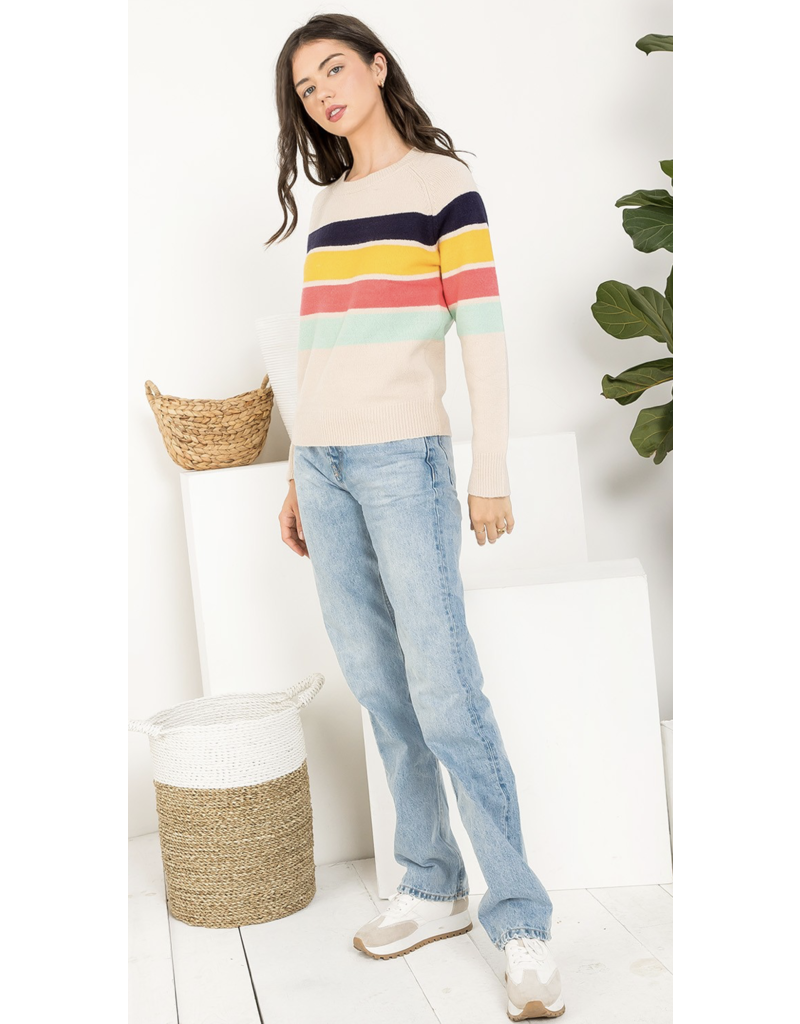 THML THML Colorblocked Knit Sweater