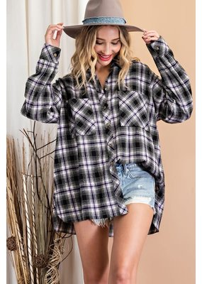ee:some Loose Fit Flannel Shirt