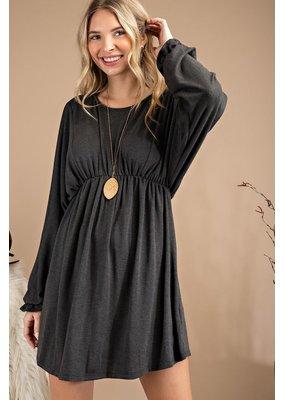 143 Story Round Neck Flare Dress