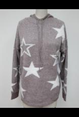Hem & Thread Hem + Thread Star Hoodie Cozy Sweater Top