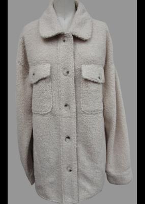 Hem & Thread Button Down Teddy Jacket