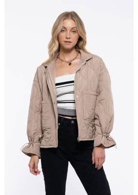 Blu Pepper Oversized Quilted Jacket