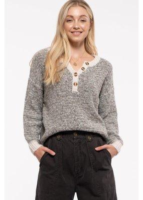 Blu Pepper Marled Knit Pullover Sweater