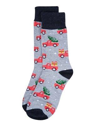 Selini Men's Novelty Socks Holiday Truck