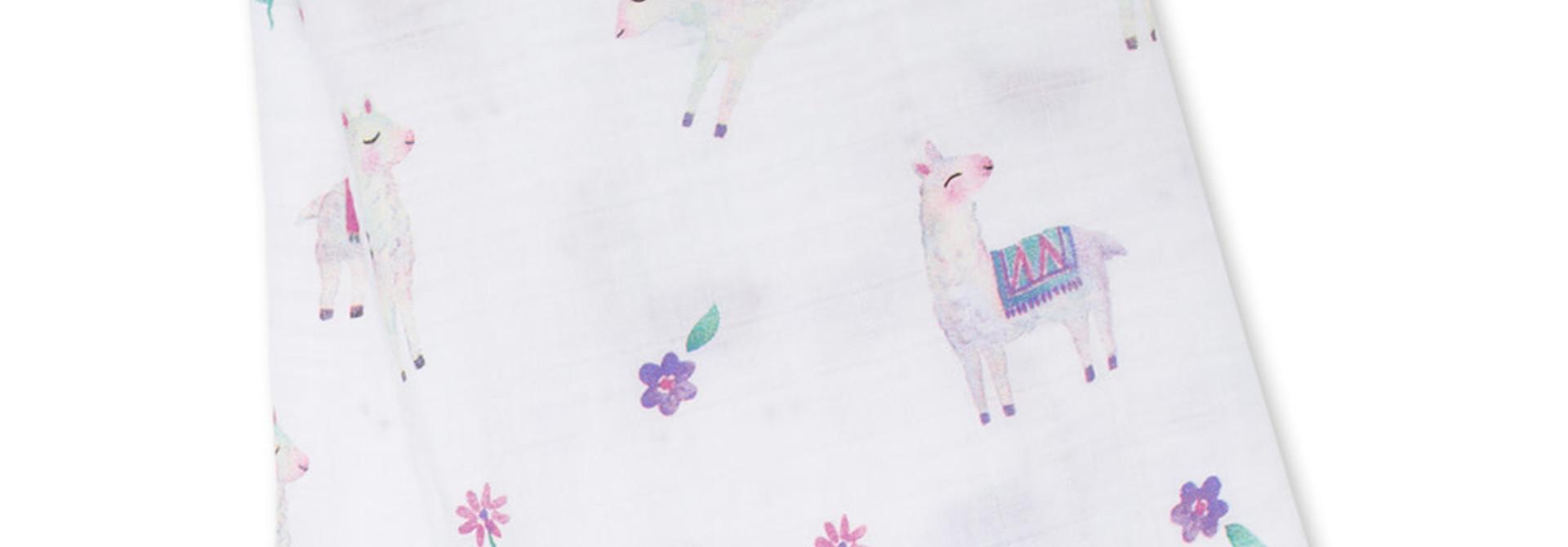 Mousseline en coton - Lamas