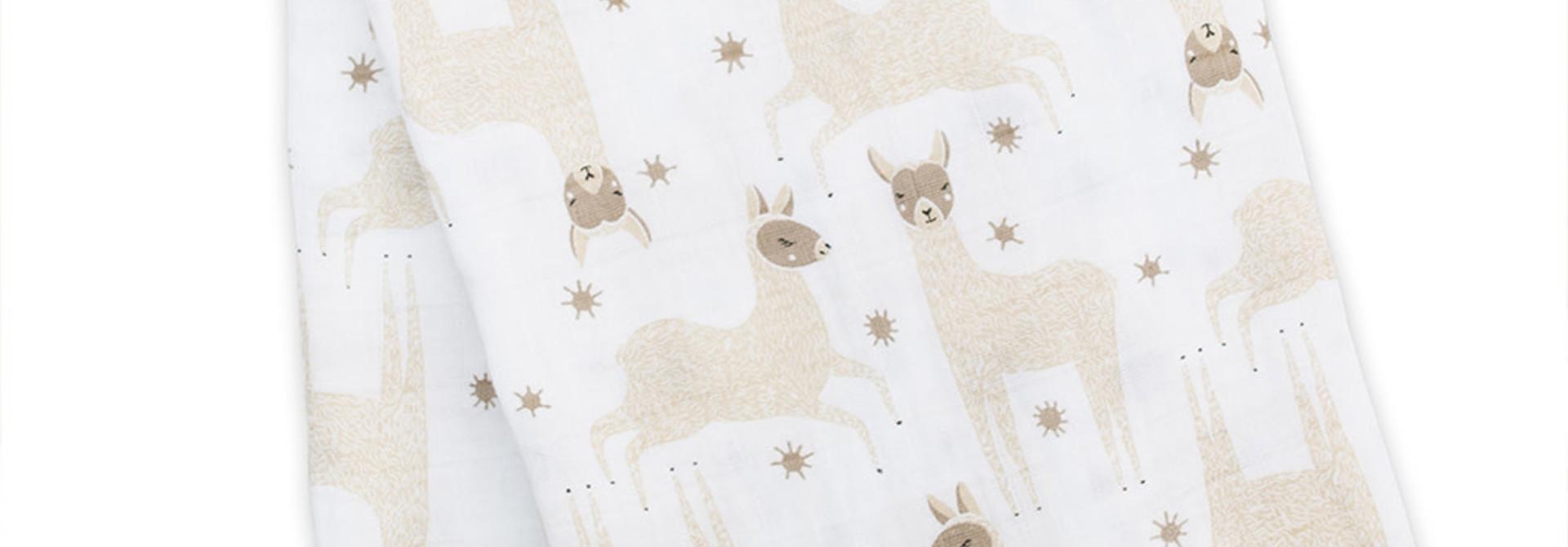 Mousseline en coton moderne - Lamas