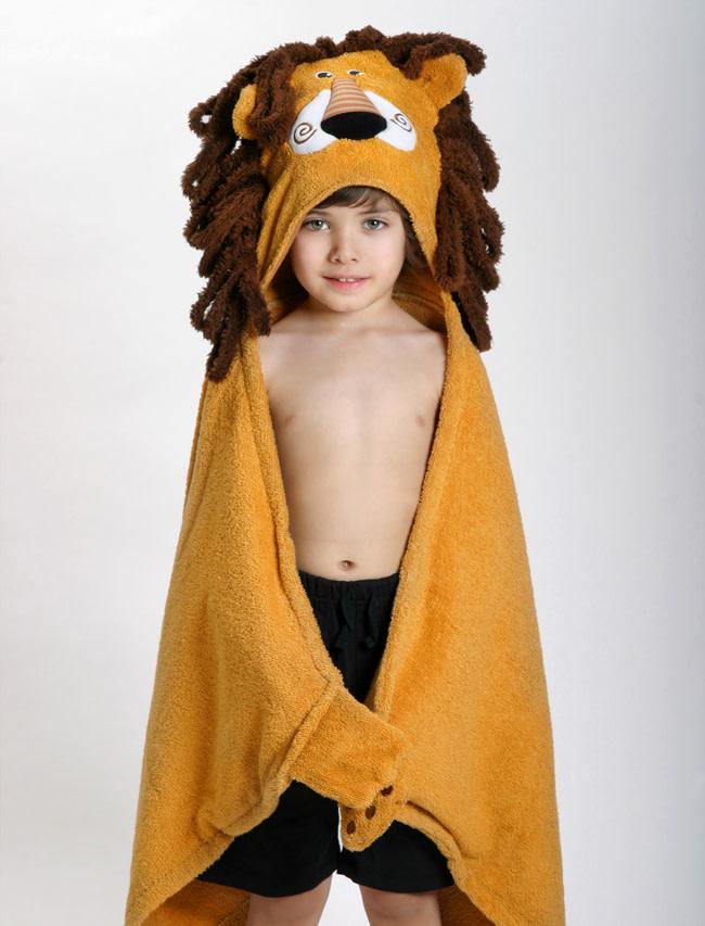 Sortie de bain pour enfants Leo le lion-1