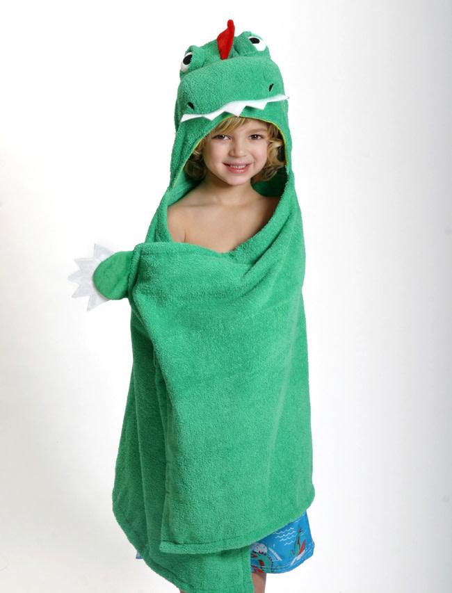 Sortie de bain pour enfants Devin le dinosaure-1