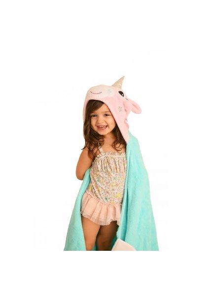 Sortie de bain pour enfants Allie la licorne