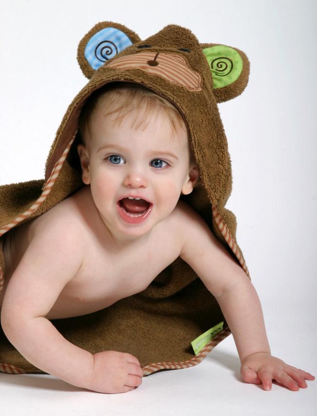 Sortie de bain pour bébés Max le bébé singe-1