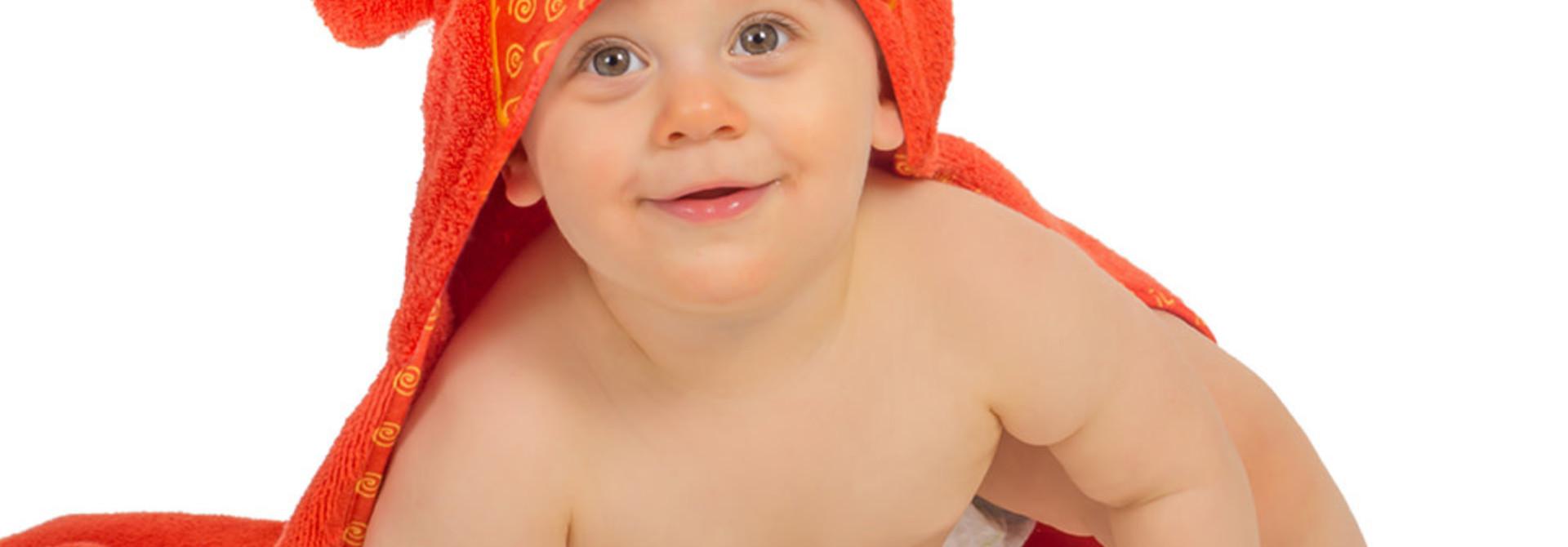 Sortie de bain pour bébés Charlie le bébé crabe