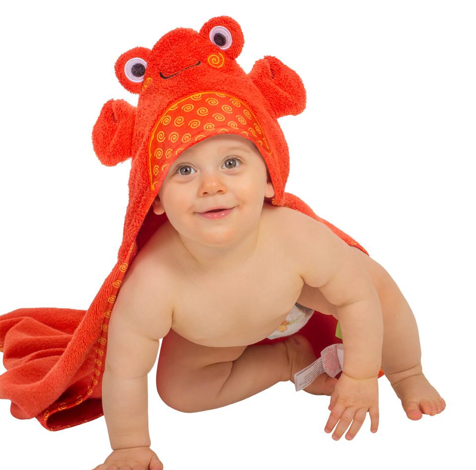 Sortie de bain pour bébés Charlie le bébé crabe-1