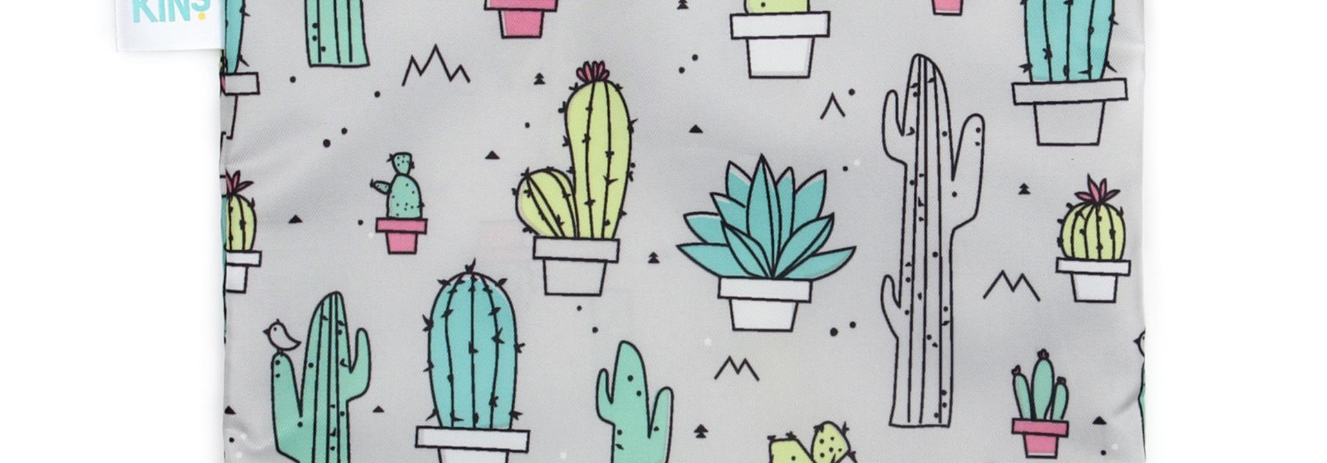 Grand sac à collation réutilisable Cactus