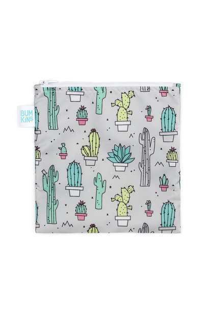 Grand sac à collation réutilisable Cactus