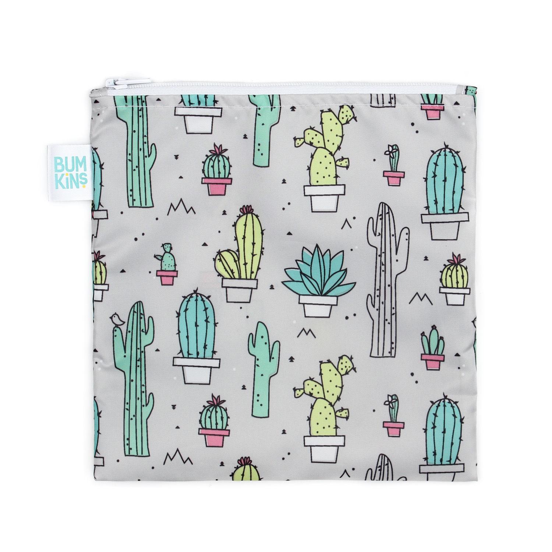 Grand sac à collation réutilisable Cactus-1