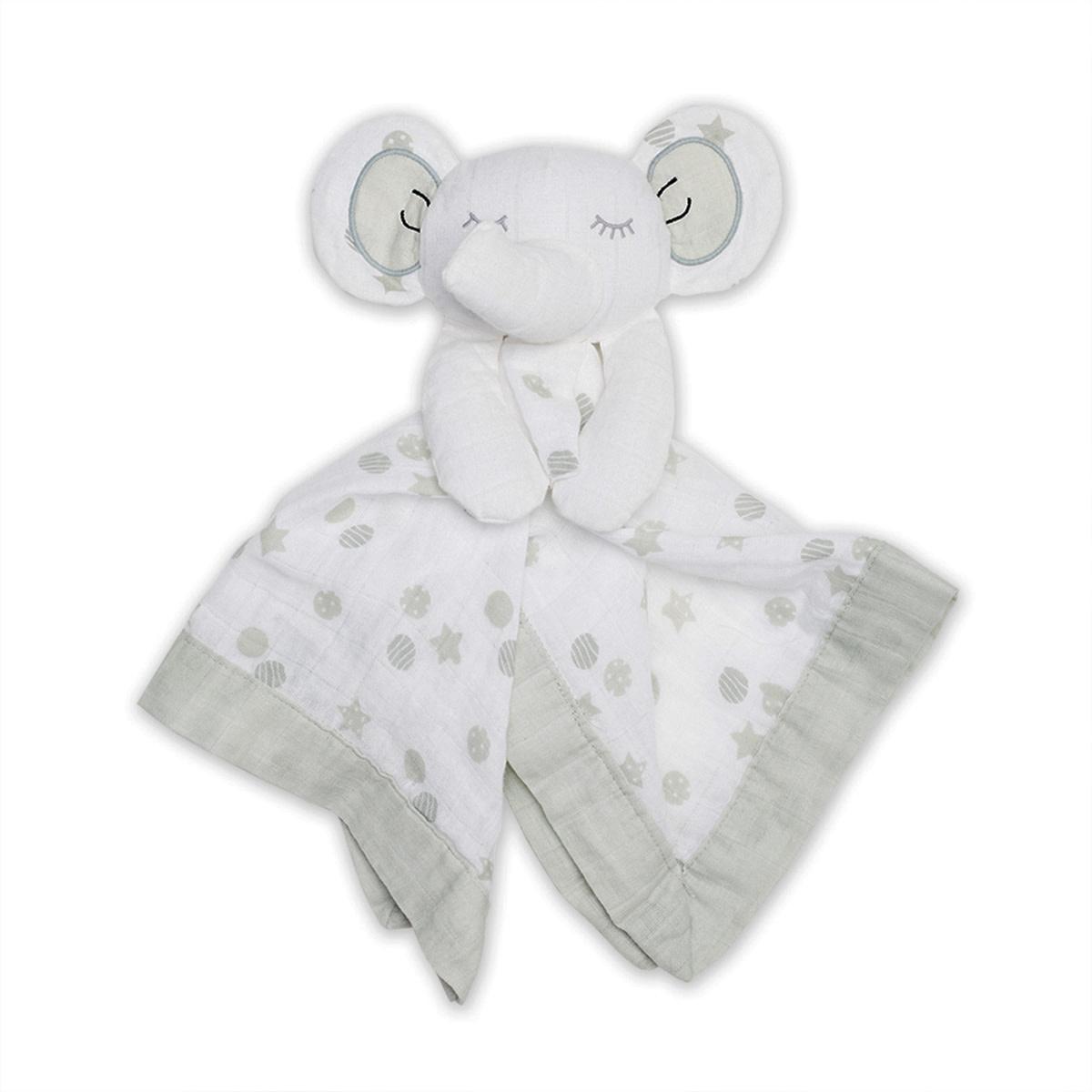 Mousseline Lovie en coton - Eléphant-1