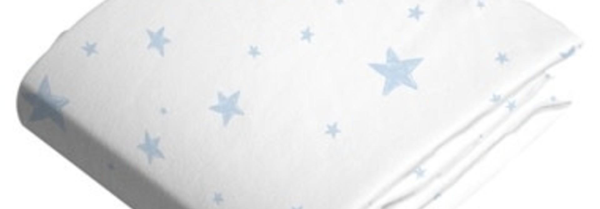 Drap pour poussette ou panier en flanelle - Étoiles bleues