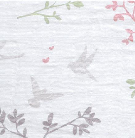 Sac de nuit mousseline de coton - Oiseaux (0.7tog)-2