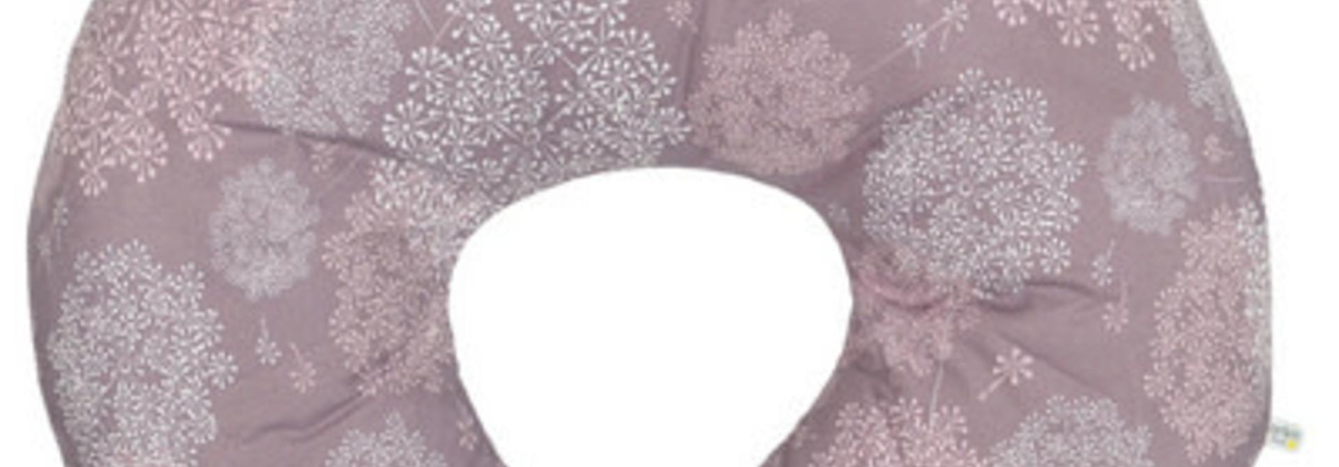 Coussin d'allaitement - Pissenlits prune