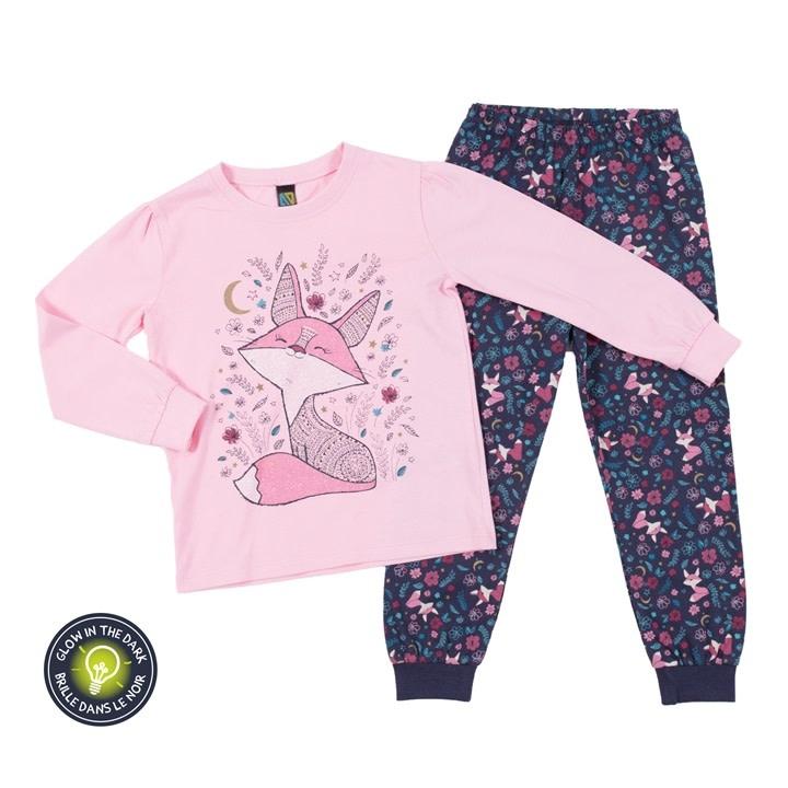 Pyjama qui brille dans le noir pour filles-1
