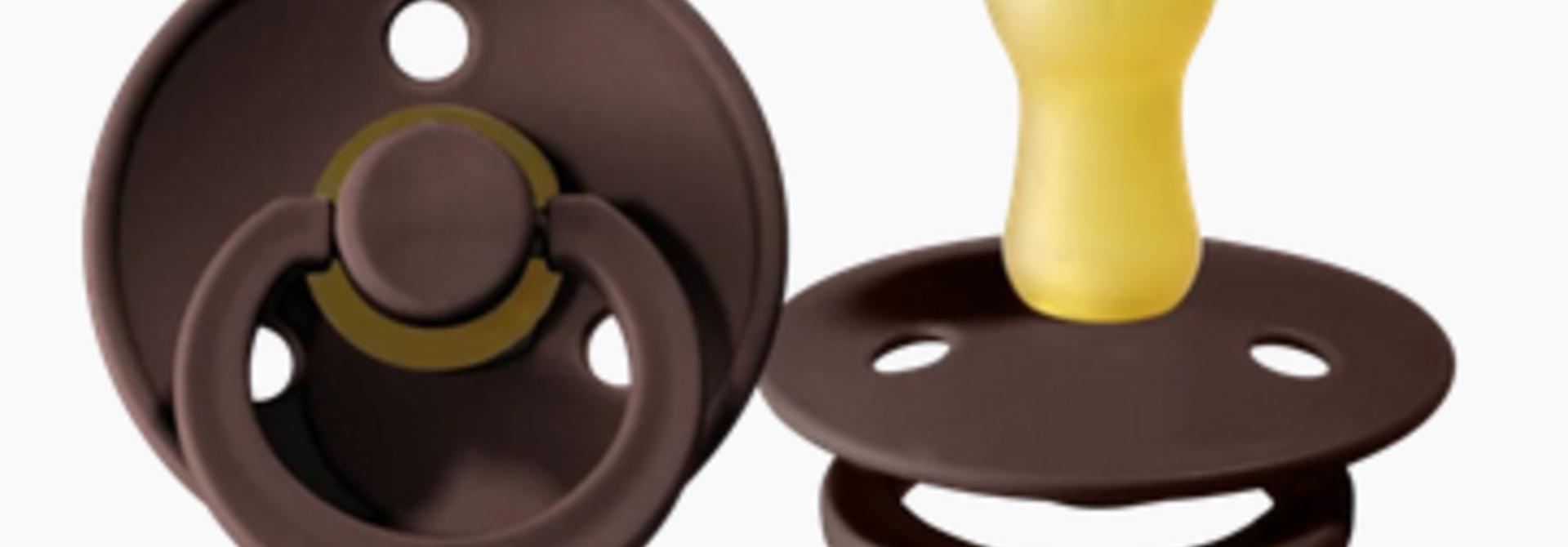 Suce Bibs boîte de 2 - Chestnut