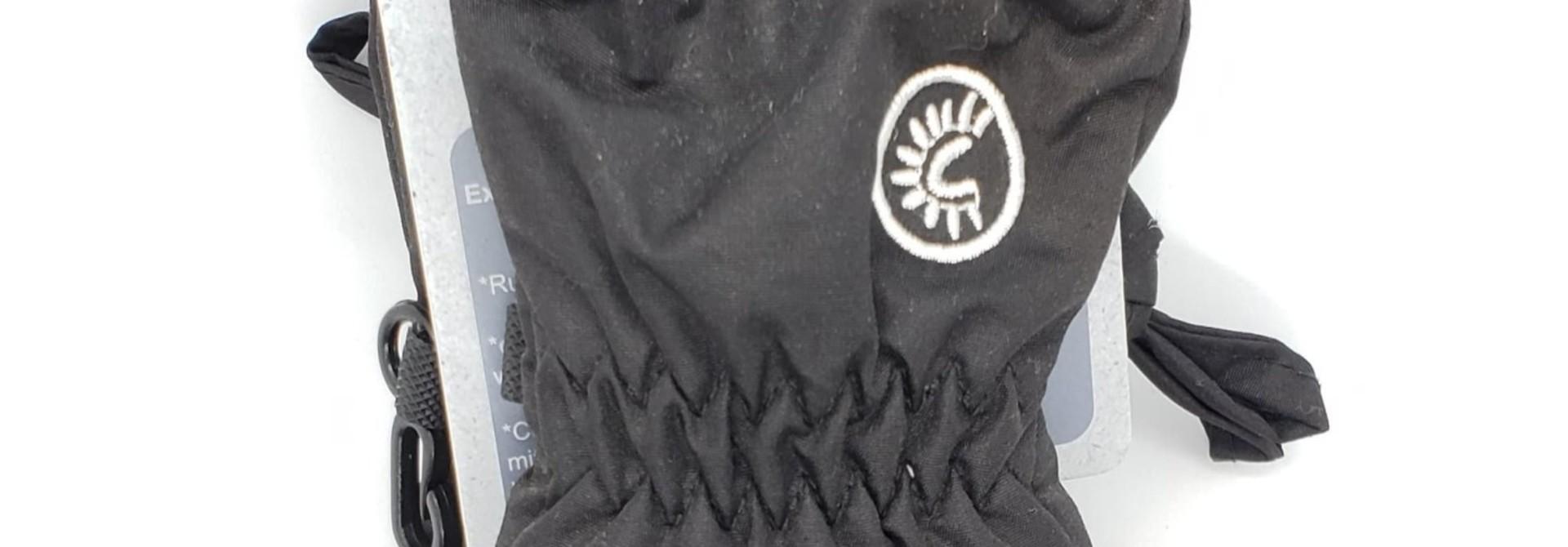 Mitaines avec cordon Noir - bébés