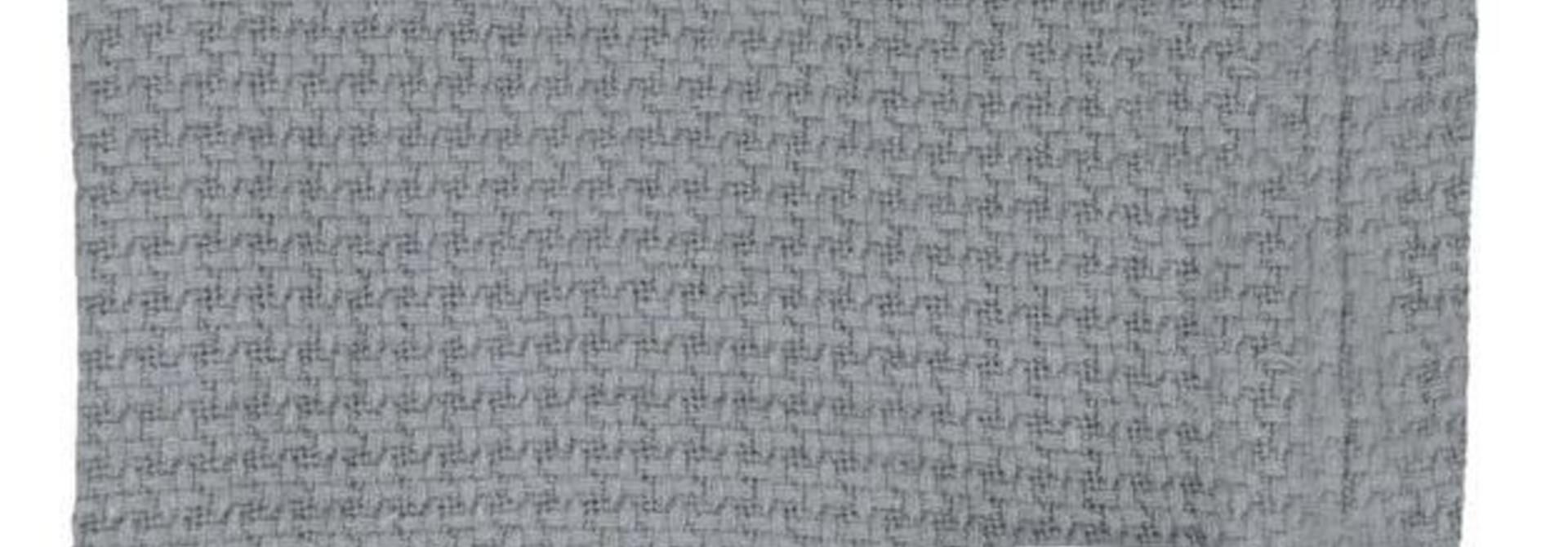Couverture tricotée bambou - Grise