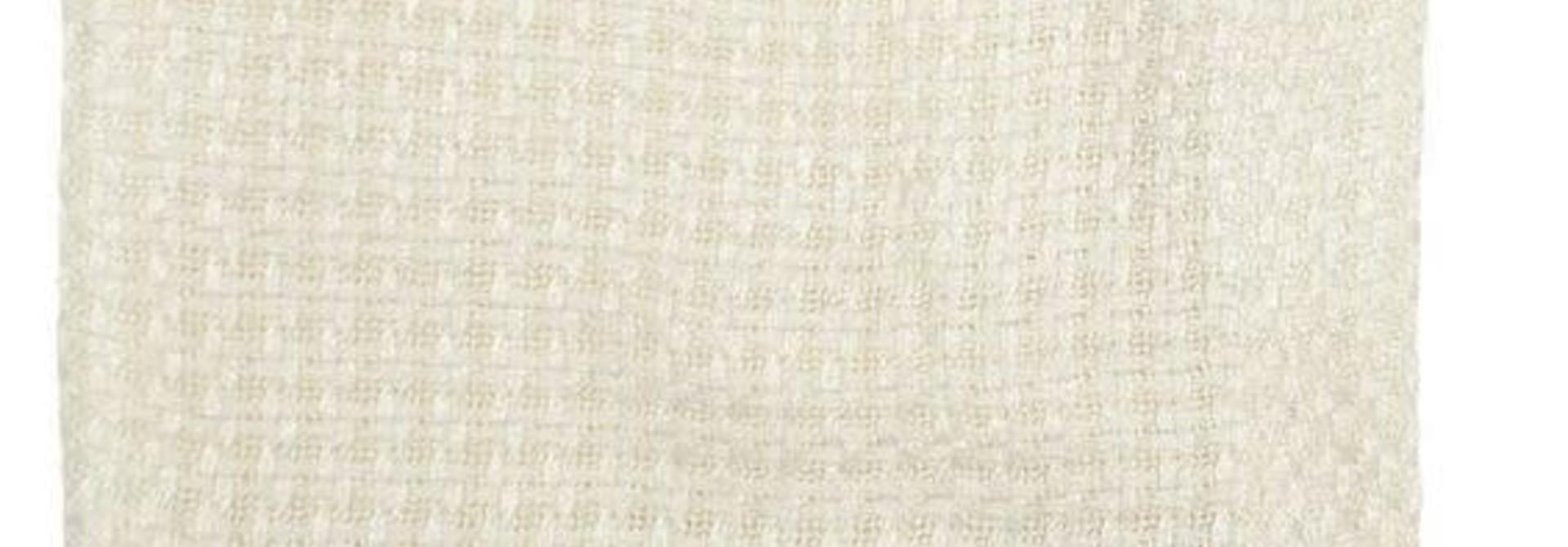 Couverture tricotée bambou - Crème