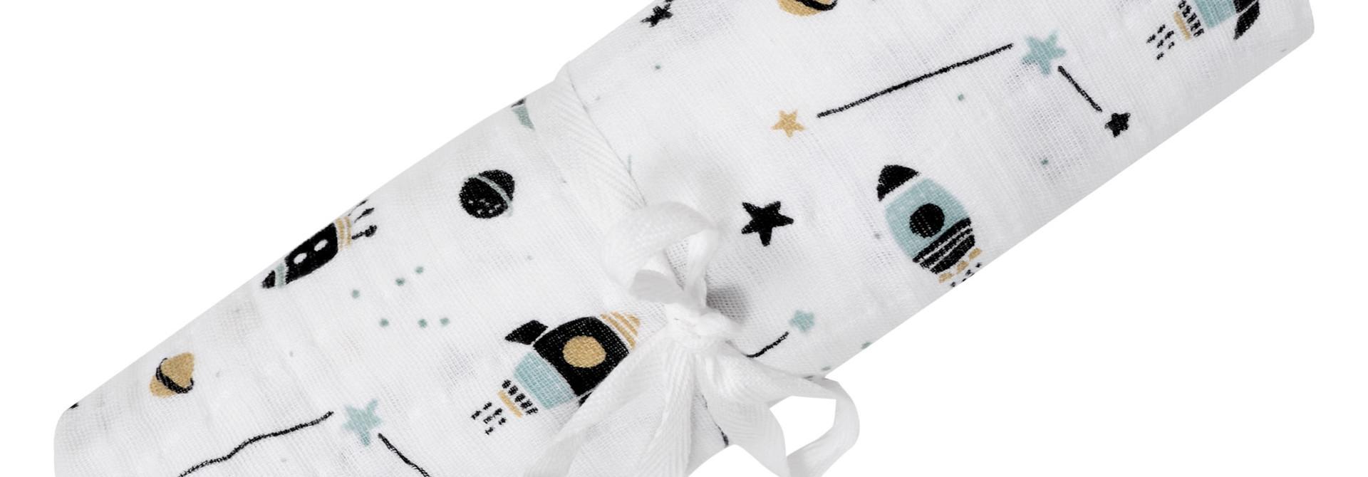 Couverture mousseline de Coton - Fusées