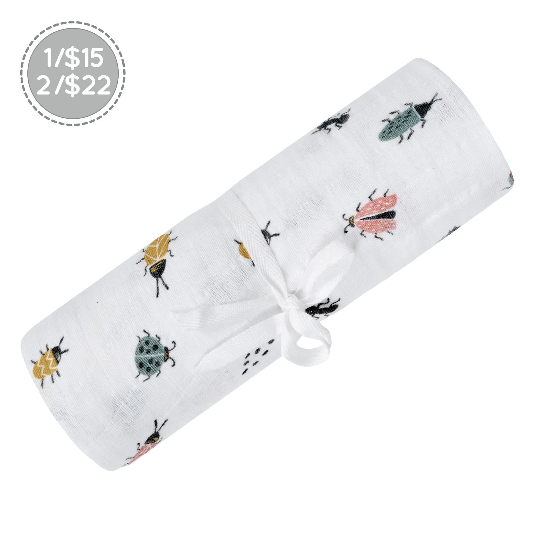 Couverture mousseline de Coton - Insectes-1