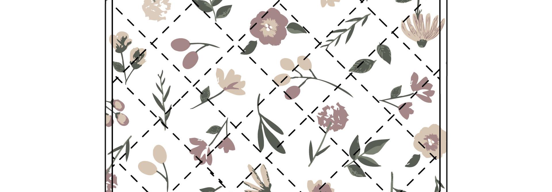 Piqué imperméable en coton - Floral